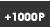 +1,000P