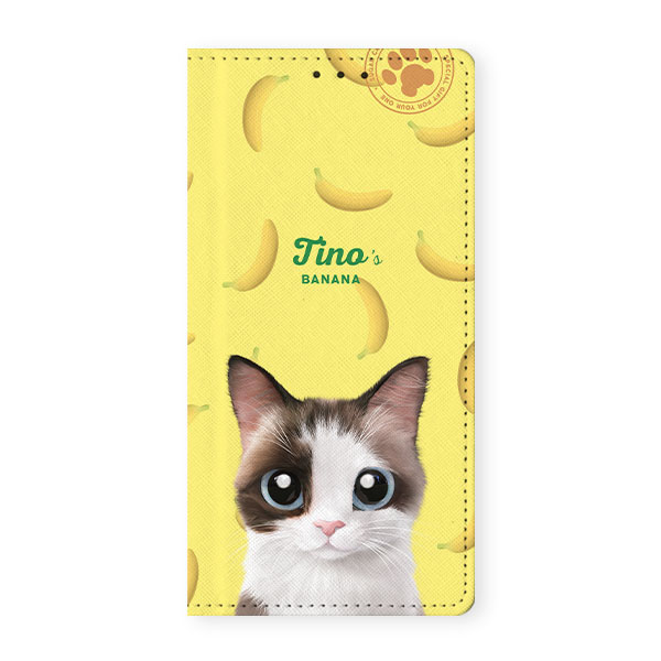Ophry×Sugarcat Tino's Banana Wallet Case for Galaxy A7 2017 (A720)
