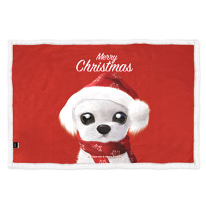 Santa Kkoong Fleece Blanket
